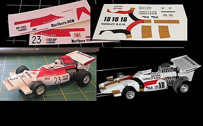 Scalextric Decals / Transfers for BRM C051 - 4 Variations