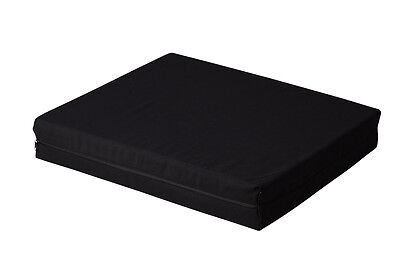 Seat / Wheelchair Cushion - Medium Density PU Foam, Removable Fabric Cover^