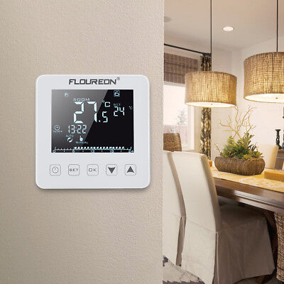 Wireless Digital 7Day Programmable Room Thermostat Electronic RF Heating Control