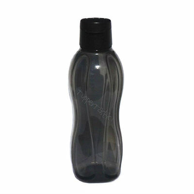 Tupperware Eco 750ml Sports H2O Water Bottle in BLACK with Flip Top Cap