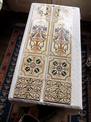 Fantastic Reclaimed Victorian Fireplace Tiles