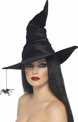 Reliable Adult Black Witch Hat Halloween Party Festival Costume Cap Accessory US