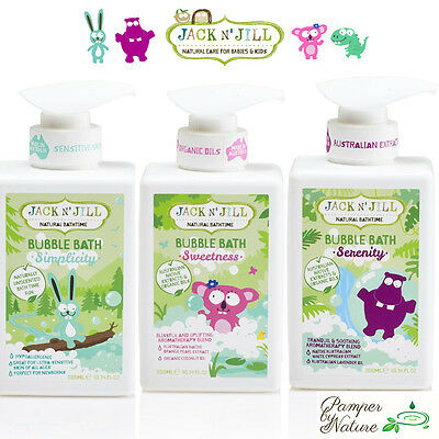 Jack n' Jill Natural Bathtime Bubble Bath - 3 Varieties to choose from