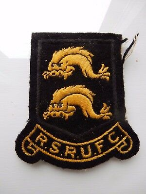 vintage  RUGBY UNION BADGE  TEAM ?  R S RUFC