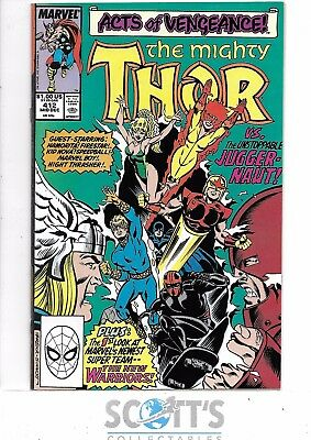 Thor  #412   NM-  1st Full New Warriors
