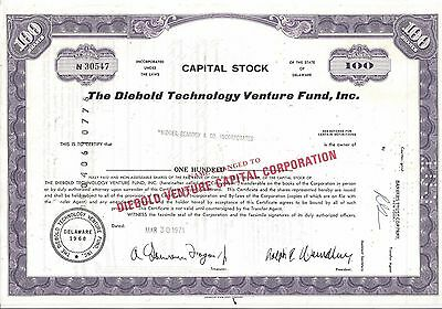 The Diebold Technology Venture Fund Inc.....1971 Stock Certificate