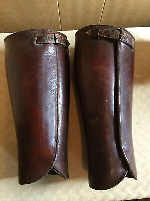 Vintage Leather Old West Half Chaps
