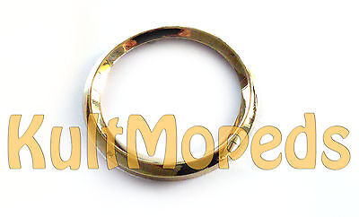 Chrome Ring Gold Simson Tacho Speedometer S51 S50 S70 KR51 Schwalbe 80 km / H