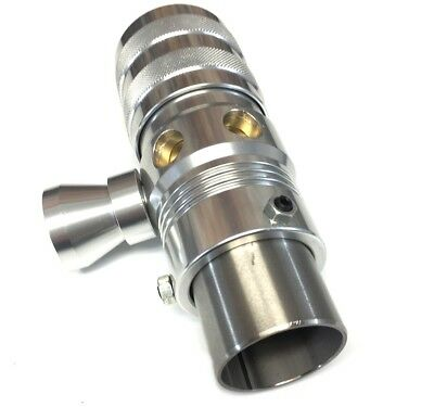 Adjustable Silver Blow Off Valve With Horn - Universal Fitment BOV