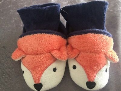 Cute Pair Of Hedgehog Pull on Slippers - JOULES - Age 12-18 Months
