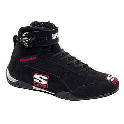SIMPSON SAFETY Size 13 Black High-Top Adrenaline Driving Shoes P/N AD130BK