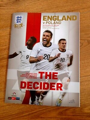 England v Poland 2014 Fifa World Cup Qualifier Official Match Programme