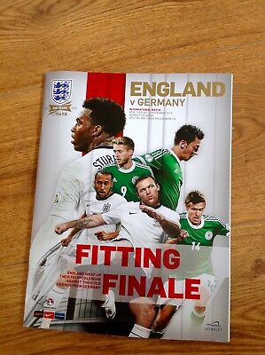 England v Germany 2013 Official Match Programme