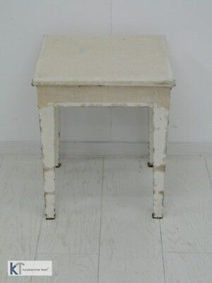 3877-Shabby Chic Stockerl-Landhausstil-Schemel-Stockerl-Hocker-Shabby Chic-Stock