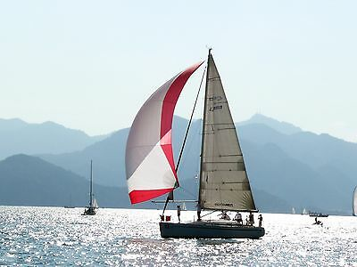 Spinnaker Sail, 42 ft, Very Good cond, SL 16100mm(52.82ft), Foot 8520mm(27.95ft)