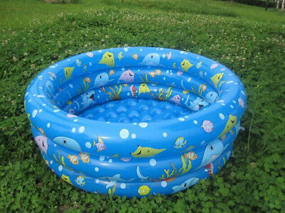 Kids Swimming Pool For Toddler Infant& Baby Inflatable W Pump Inflate Swim