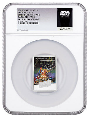 2017 Star Wars Posters Empire Strikes Back 1oz Silver $2 NGC PF69 UC ER SKU48942