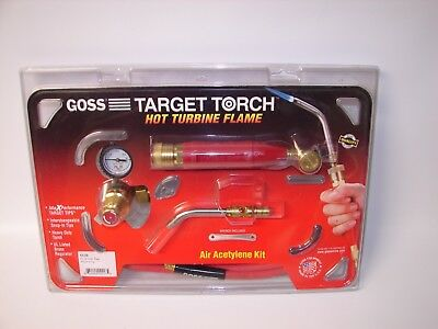"Goss KX-5B Soldering Brazing Torch Kit for ""B"" Acetylene Tanks, GA-5 Target Tip"
