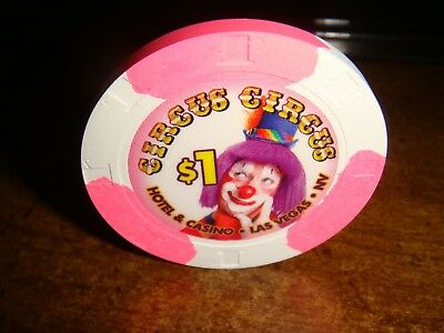 $1 Circus Circus, Las Vegas ~ Obsolete Chip But Brand New !!  Pretty Chip!!