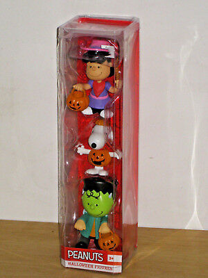 NEW Just Play Peanuts Halloween Figures Lucy Snoopy Charlie Brown Jack O Lantern