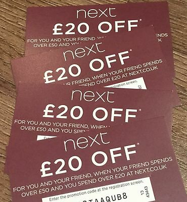 NEXT £20 OFF VOUCHER - Ladies Mens Girls Boys Baby Clothing Home