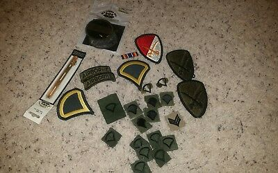 Lot of 23 Military US Army Patches Free U.S Shipping
