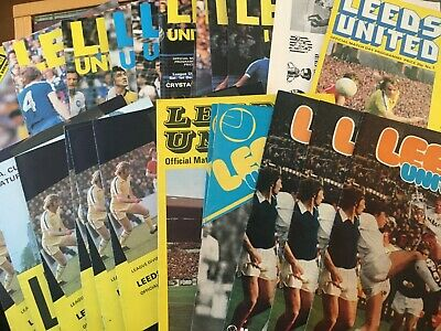 Leeds United HOME programmes 1974/75 and 1975/76