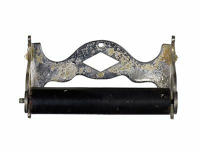 antique Victorian nickel plated toilet paper holder
