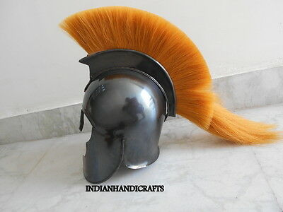 Greek Corinthian Troy Armour Helmet Collectible Spartan Black Antique Finish
