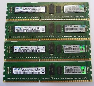 16GB 24GB 32GB (4GB Memory) PC3L-10600R DDR3-1333MHz ECC 1Rx4 HP IBM DELL Lenovo