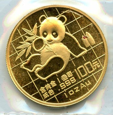 1989 1oz .999 Gold China 100 Yuan Gold Panda Coin Raw Uncertified RR287
