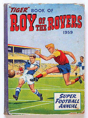 Tiger Comic Roy Of The Rovers Football Annual 1959: Unclipped.