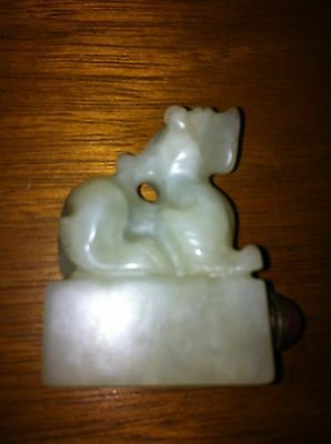 MASTER CARVED JADE SNUFF BOTTLE    BEAUTIFUL  on sale now!