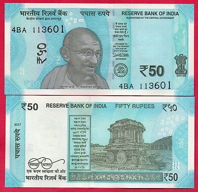 India Banknote 50 Rupees 2017, P-New, New Color  And Desing, Unc