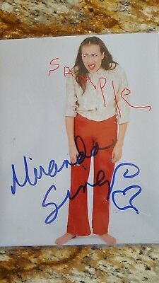 MIRANDA SINGS COLLEEN BALLINGER AUTOGRAPHED SIGNED 8x10 Copy PHOTO
