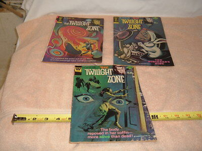 "Lot of 3 ""THE TWILIGHT ZONE""  Comic Books  from 1976"