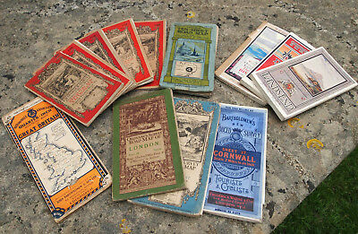 13 Vintage Maps Ordnance Survey OS 20's 30's 40 AA Philips Bathololomews Cyclist