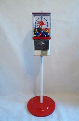 gumball machine candy peanuts MOBIL GASOLINE oil + stand