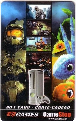 HALO & NIMO EB GAMES Limited Ed COLLECTIBLE Gift Card New No Value BILINGUAL*