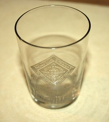 Early Pre-Prohibition Thompson Co. Straight Whiskey Shot Glass~Louisville Ky! Nr