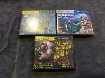 Lot of 3 graphic Audio Books Mist born and more