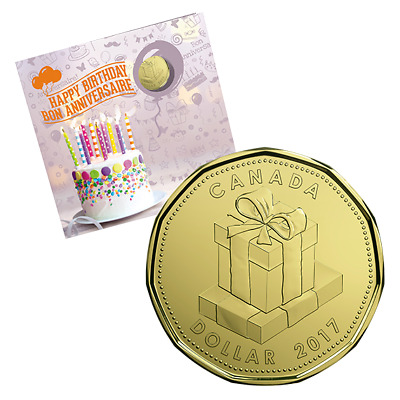 BIRTHDAY GIFT SET - 2017 Uncirculated Coin Set with Limited Edition Loonie