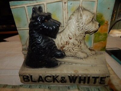 scotch whisky advertising vintage black + white sign dog 30s store display