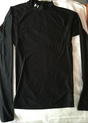 Under Armour mens black athletic long sleeve shirt size S
