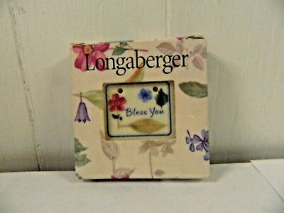 Longaberger Bless You Tie On New in Pkg  3569635