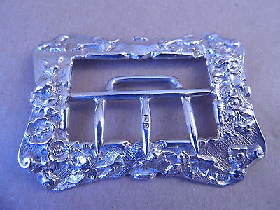 Chester Gorgeous Victorian Sterling Silver Belt Buckle 1899