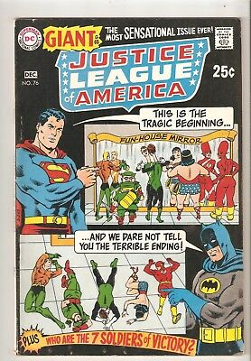 Justice League of America #76 (Dec 1969) FN/VF 7.0  rep. #7 and #12 (Giant-size)