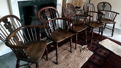 Antique Windsor Chairs (set of 5)