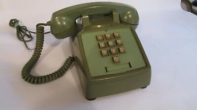 Vintage Western Electric desk Telephone Model 1500D 10 Button Green Bell System