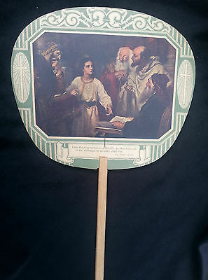 Old Advertising Premium Fan WRIGHT Funeral Home Furniture Store UNION BRIDGE MD